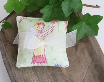 Petite Lavender Sachets, Set of Three, Apple Green Fairy Sachets
