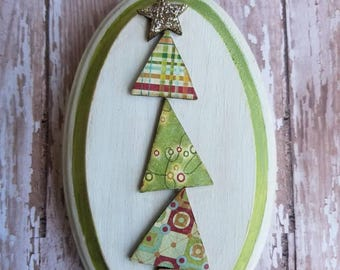 christmas cheer...wallhanging...whimsical tree