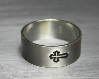 ON SALE TODAY Sterling Silver Cross Ring Spiritual Jewelry