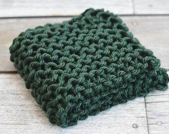 Forest Jewel - Mini Prop Blanket - deep green knit newborn photography prop basket bucket bowl filler stuffer