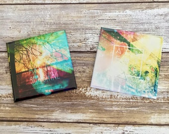 "Artful Adventures 3""x3"" Photo Magnets - Set of 2"