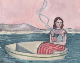 giclee print - maria set out to find the place she was meant to call home - limited edition giclee art print of oil painting