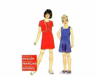 SALE Girls Dress Bolero Jacket Simplicity 8760 Sewing Pattern Size 7 - 8 - 10 - 12 - 14 - 16 Uncut