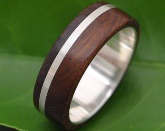Size 10.75, 8mm READY TO SHIP Solsticio Nacascolo Wood Ring - ecofriendly wood wedding band, mens wedding band, wood wedding ring