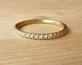 Half Eternity Round Diamond Banf deposit-custom for EB