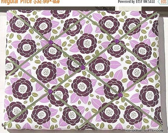 Christmas In July 30% Off Lilac Blooms Aviary 2 Memory Board French Memo Board,Fabric Ribbon Memo Bulletin Board, Fabric Pin Board, Bedroom