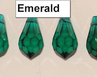 Destash Swarovski Faceted Teardrop Pendants (6000) - Multiple Colors and Sizes at Destash Prices