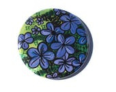 Purple Flower Pin, Magnet...