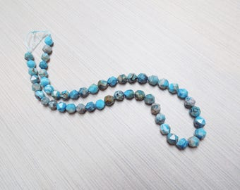 Blue Crazy Lace Agate Star Cut beads