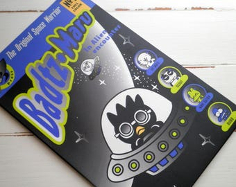 Vintage Badtz Maru Rare Collectible Stationary Set - Sanrio Outer Space Alien Encounter Paper Stickers & Envelopes - Hello Kitty Pals Gift