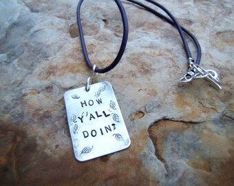 Hand Forged and Stamped Personalized Necklace - Kiss My Grits