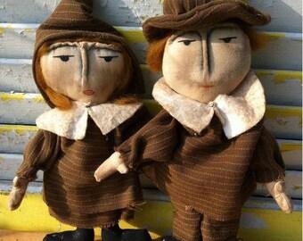 CustomerAppreciationSale Primitive Pilgrims Set Mary and William Webster