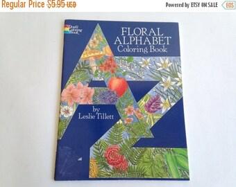 Floral Alphabet Coloring Book - Leslie Tillett - Coloring Book ~ The Pink Room ~ 170222