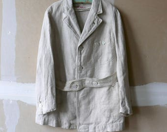 Edwardian Child's Linen Norfolk Jacket