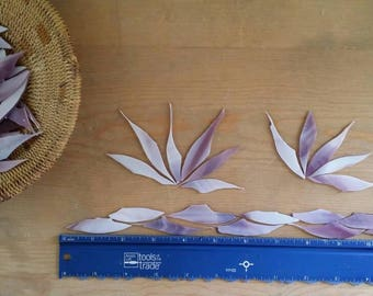 Purple and White Wispy Glass Shards for Mosaic Art Designing