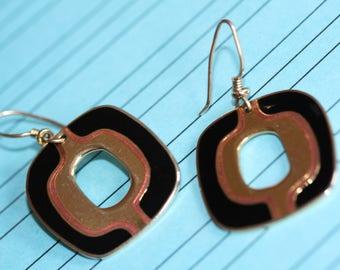 VINTAGE Laurel Burch pierced / dangle earrings