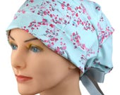Surgical Scrub Caps - Chemo Cap - Scrub Hats for Women - Scrub Caps - Large - Ribbon - Enchanted