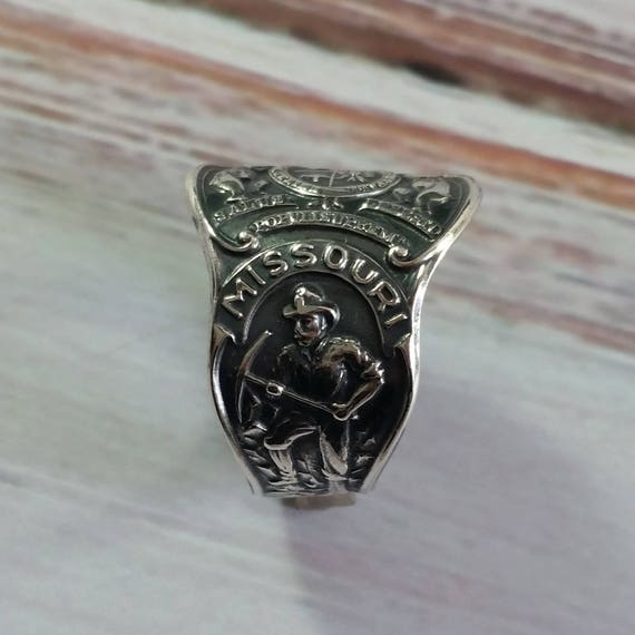 Missouri Souvenier Sterling Silver Spoon RIng, Boho Spoon Ring, State Spoon