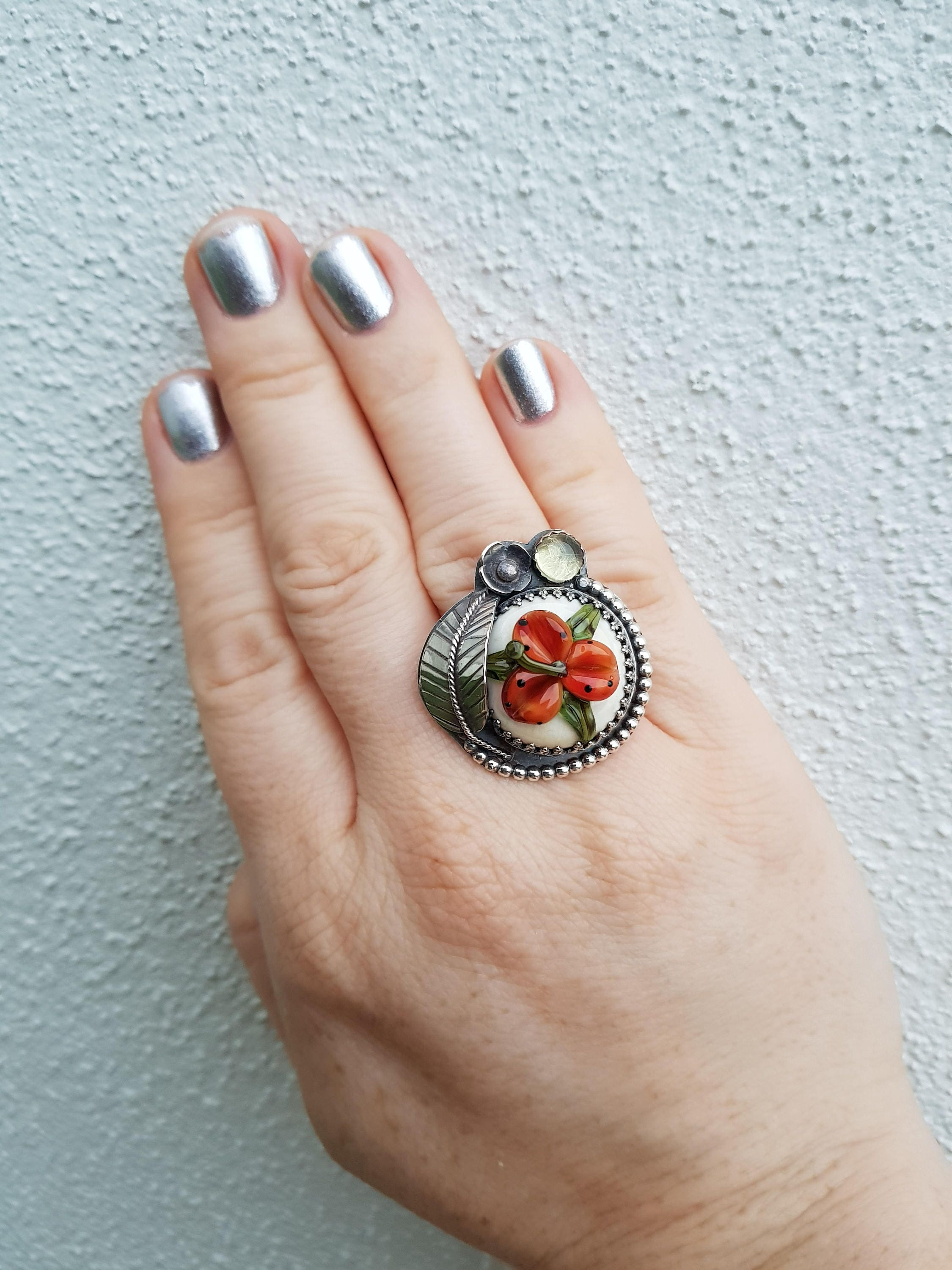 November sale tiger lily art glass citrine sterling silver ring gallery photo gallery photo gallery photo gallery photo prinsesfo Image collections