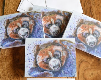 Grizzly Bear Cards, Grizzly Bear Art, Bear Watercolor, Bear painting, Bear Cards, Wildlife Art, Wildlife Notecards, Grizzly Bear, Watercolor