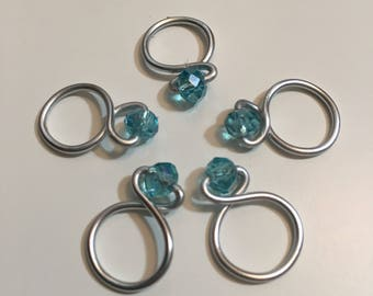 Ice Blue Loop Snagless Stitch Markers