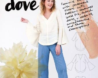 Megan Nielsen PATTERN - Dove Blouse - Sizes XS to XL