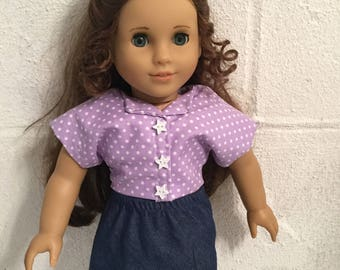 Doll clothes that fits the American girl denim skirt
