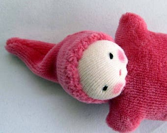 berry Baby, Waldorf  Doll, germandolls, pocket doll, Waldorf toy, Valentines day gift, for kids