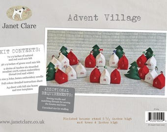 Advent Village Kit - Create this wonderful three-dimensional advent calendar with this great kit from Janet Clare