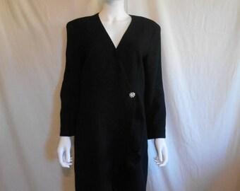 Closing Shop 40%off SALE Vintage Black WOOL Jacket/Cover Up