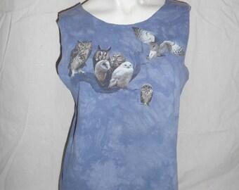 Closing Shop 40%off SALE OWL cut off cutoff tank top t shirt