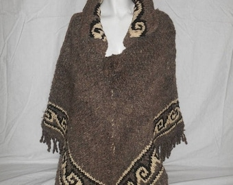 Closing Shop 40%off SALE Vintage BEAUTIFUL  Handmade hand woven Ethnic Poncho Cape coat