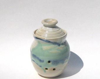 Garlic Keeper Storage Jar - Rio Grande Glaze