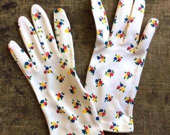 1950s Floral Gloves