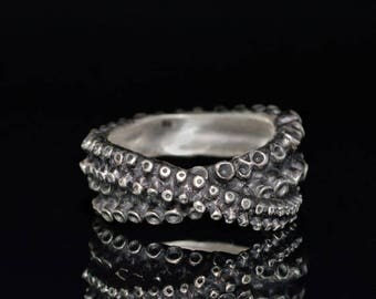 SALE SALE Tentacle Ring, Octopus Ring, Silver Tentacle Ring, OctopusME, Octopus Jewelry - Crossover Tentacle Ring