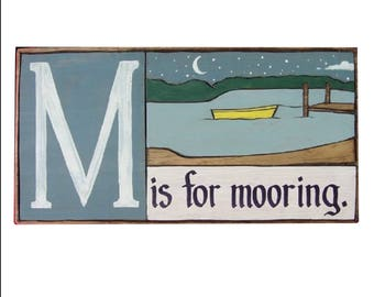 Boat, Alphabet Primer - M is for Mooring