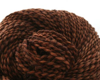 Middlefield Hand Dyed aran weight wool alpaca blend 200 yds 4oz Chestnut