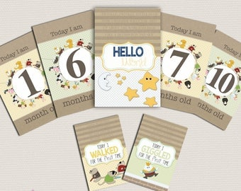 Printable Baby Milestone Cards | Milestone and Moments Cards | Baby Shower Gift | New baby gift | Nursery Rhyme | Milestone cards| Digital