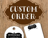 Custom Order Jewelry Display Cards for hummingbirdswing