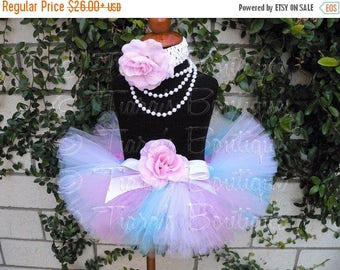SUMMER SALE 20% OFF Girls Tutu, Birthday Tutu, Tutu Set, Easter Tutu, Newborn Photo Prop, Pink Blue White Tutu, Sweet Little Lovey, Newborn
