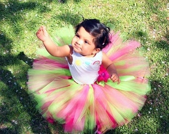 SUMMER SALE 20% OFF Tutu, Girls Tutu, Birthday Tutu, Cake Smash Tutu, lime green tutu, pink tutu, Photo Prop Tutu Set, Lime Passion, tutu up