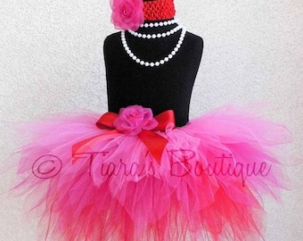 SUMMER SALE 20% OFF Baby Tutu - Sewn Infant Toddler Pixie Tutu - Design Your Own Custom Sewn 12'' 3 Tiered Color Layered Pixie Tutu - newbor