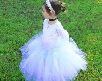 SUMMER SALE 20% OFF Flower Girl Tutu Skirt for Weddings, Design Your Own Custom Tutu, Choose Any Combination of Colors, Up to 20'' in length