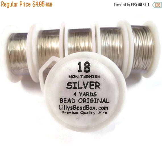 Summer SALEabration - Silver Plated Wire - 18 Gauge Round Wire for Making Jewlery, Non Tarnish Wire, Wire Wrapping Supplies