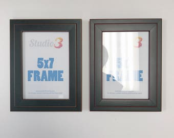 SALE! Set of 2 Black Photo Frames - Fits a 5x7 Photo
