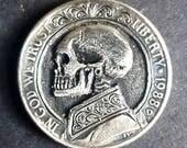 Hobo nickel pre 1990 us nickel skull engraving