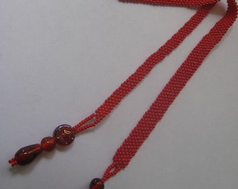 Book Marks, hand beaded in Matte red Seedbeads