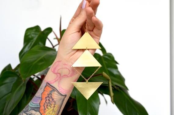Brass wall hanging -  handmade wall décor - housewarming gift