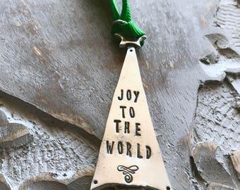 Joy to the World Christmas Tree Ornament / Joy to the World Christmas Ornament /  Holiday Ornament