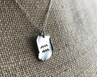 Custom Sterling Silver Scroll Tag Necklace